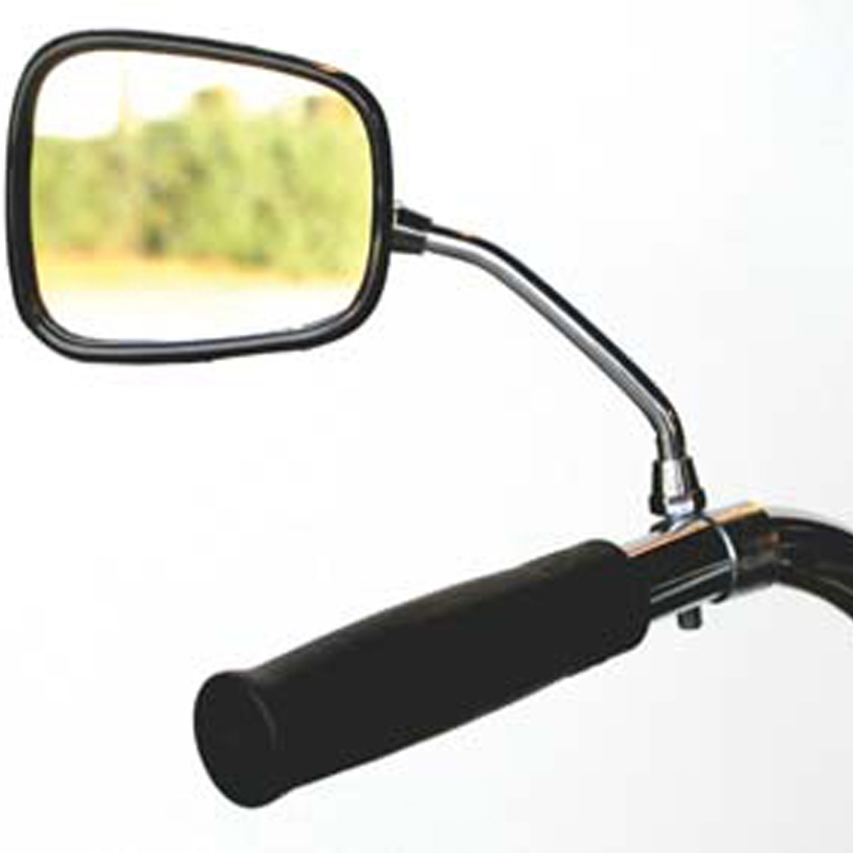 Summit Rectangle Handlebar Mount Bicycle Mirror w/Reflector - CL-106