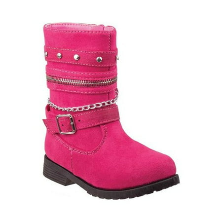 Rugged Bear Studded Chained Girls' - Hot Girls Boots