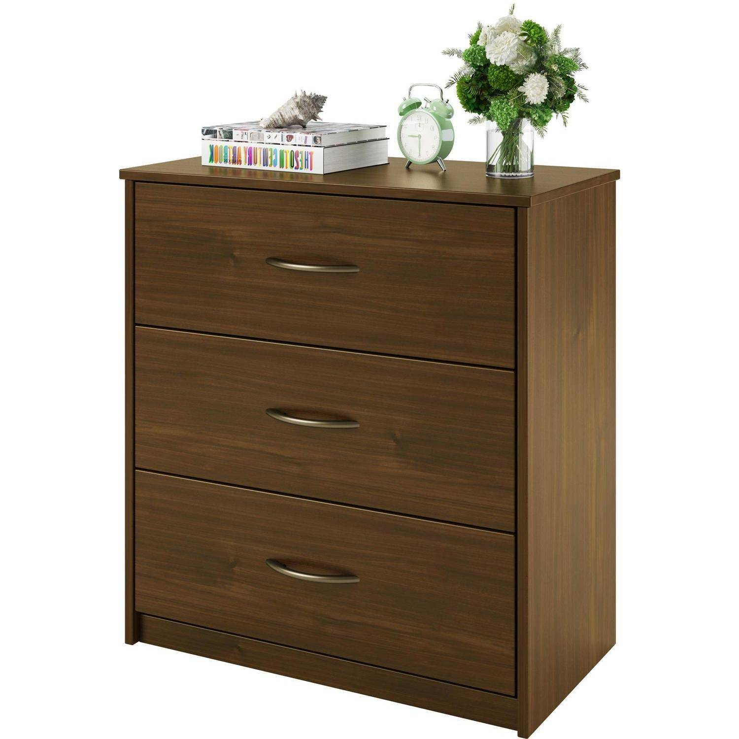 3 drawer dresser chest bedroom furniture black brown white storage wood modern ebay for Bedroom set with storage drawers