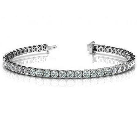 Harry Chad Enterprises 23781 7.5 CT Round Diamond Tennis Bracelet - 14K White Gold - image 1 of 1