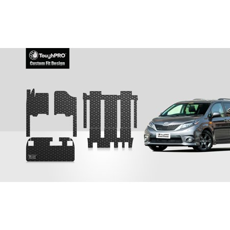 Toyota Heavy Duty (ToughPRO - TOYOTA Sienna Full Set with Cargo Mats - All Weather - Heavy Duty - Black Rubber - 2018 )