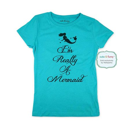 I'm Really A Mermaid (design1) - Youth Young Girls Juniors Slim Fit Soft Tee Shirt - Fun Trendy Tee](Really Pretty Teenage Girls)
