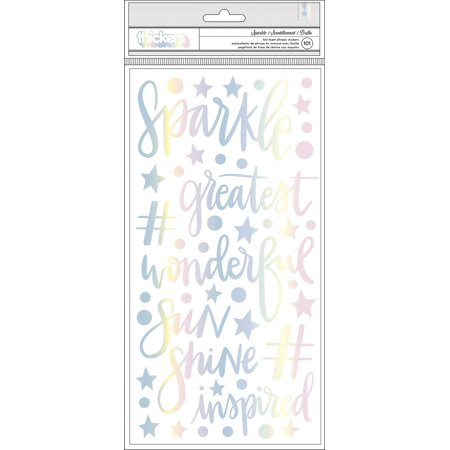 "Shimelle Sparkle City Thickers Stickers 5.5""X11"" 101/Pkg-Sparkle Phrases & Icons/Foam - image 1 de 1"
