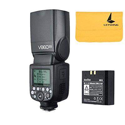 godox v860ii-n 2.4g ttl li-on battery camera flash speedl...