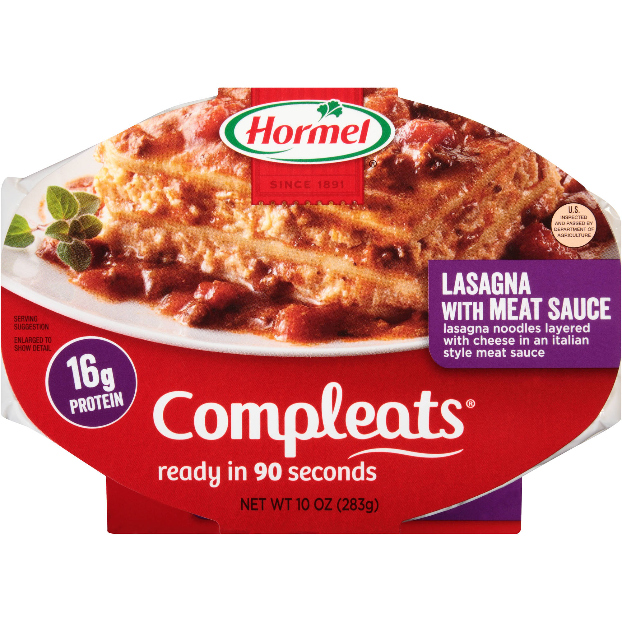 Hormel Compleats Lasagna with Meat Sauce, 10 oz