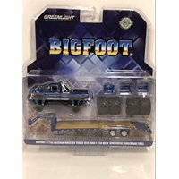 "1974 Ford F-250 Monster Truck ""Bigfoot"" w/Gooseneck Trailer & Regular & Replacement 66"" Tires 1/64 Diecast by Greenlight"