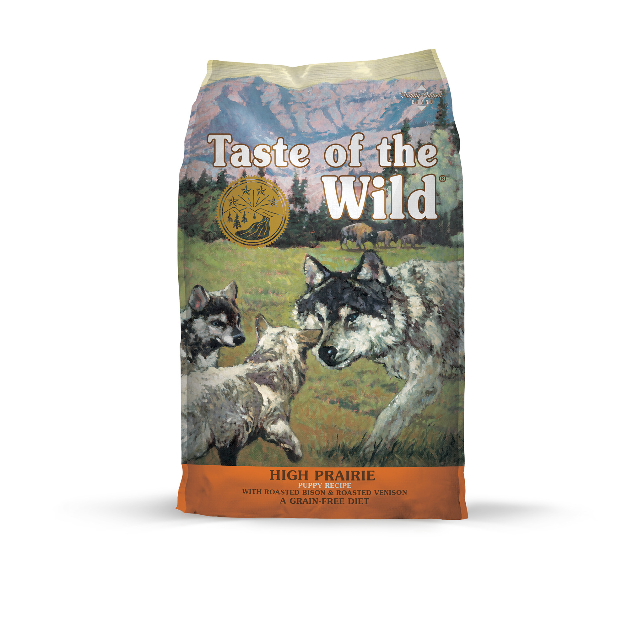 Taste of the Wild High Prairie Grain-Free Dry Puppy Food with Roasted Venison & Bison 15lb