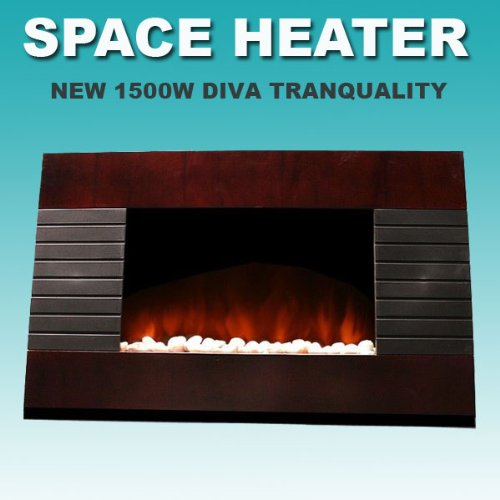 New 1500W Deluxe Wood Wall Mount Electric Fireplace Space Heater 1500 Watts