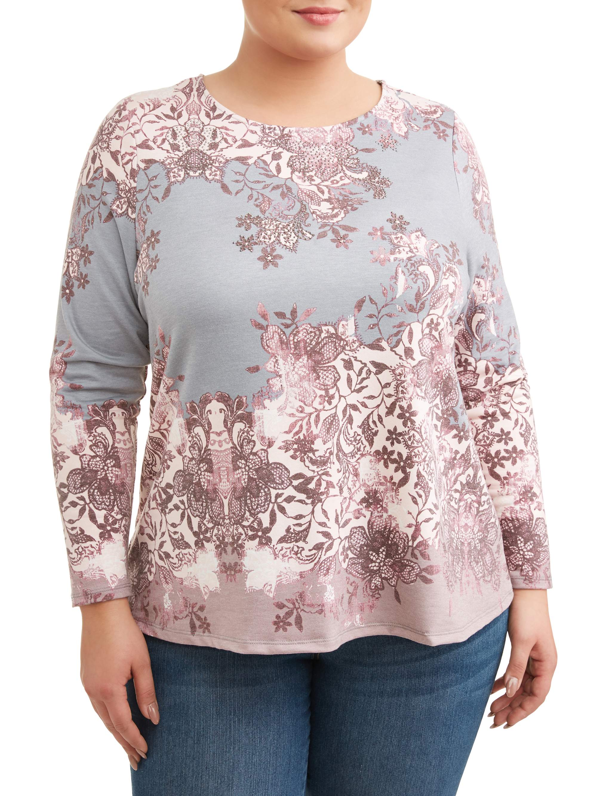 Women's Plus Size Sublimated High/Low Top