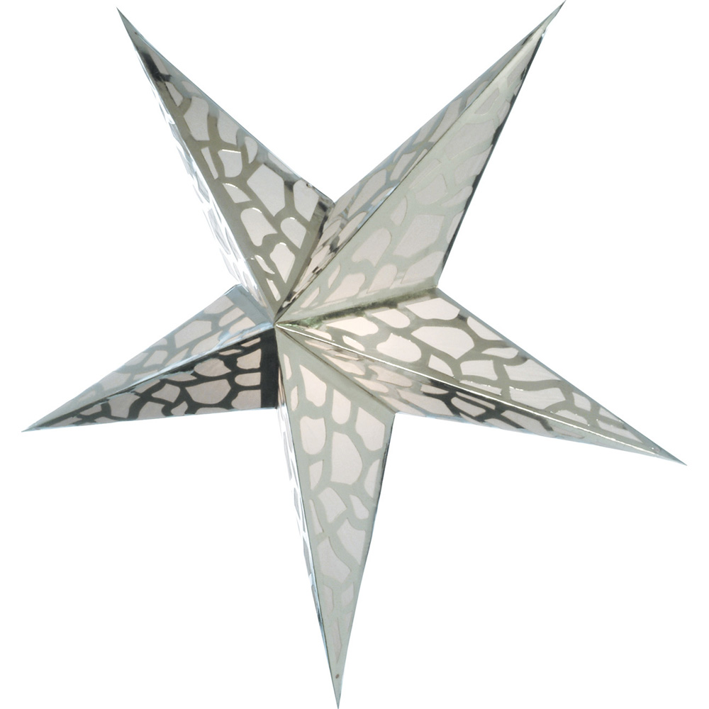 Paper Star Lantern (24-Inch, Platinum Silver) - For Home Decor, Parties, and Holiday Decorations