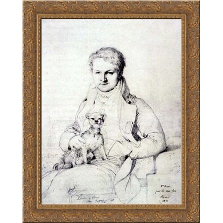 Jacques Marquet, Baron de Montbreton de Norvins 20x23 Gold Ornate Wood Framed Canvas Art by Ingres, Jean Auguste Dominique