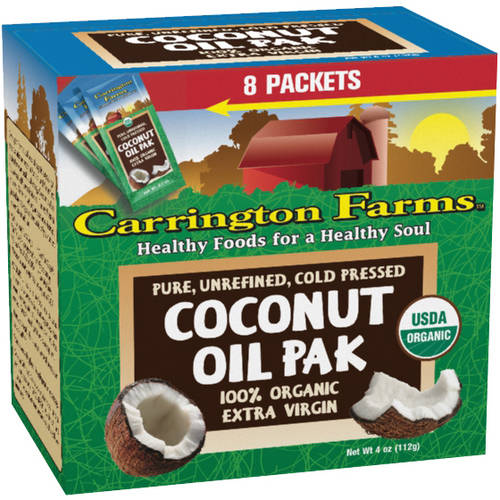 Carrington Farms 100% Organic Extra Virgin Coconut Oil Pak, 8 count, 4 oz