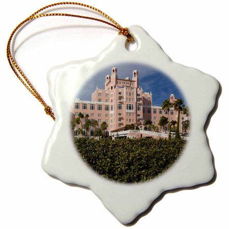 3dRose Don Cesar Resort, St. Petersburg Beach, FL - US10 MPR0345 - Maresa Pryor - Snowflake Ornament,