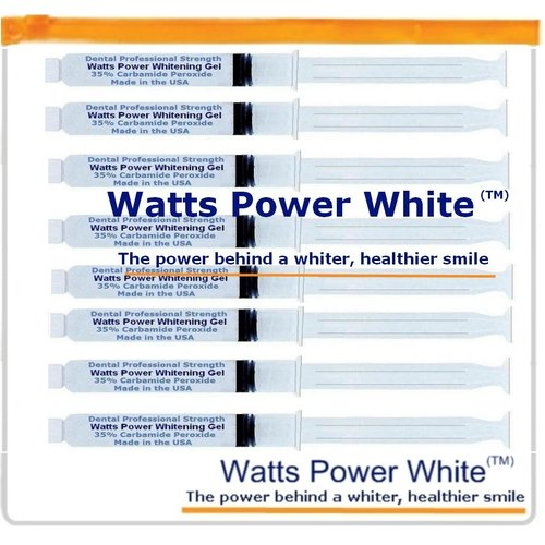 Watts Power B2YAAL Professional Teeth Whitening Gels 8 Huge 10ml Gels