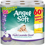 Angel Soft Toilet Paper with Fresh Lavender Scent, 18 Double Rolls, Bath Tissue