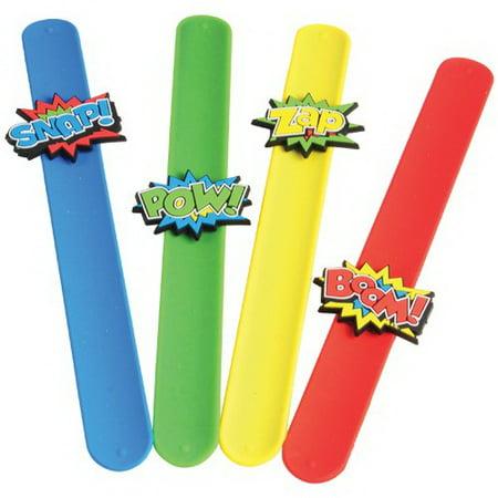(Price/Dozen) JA830 Superhero Slap Bracelets for $<!---->