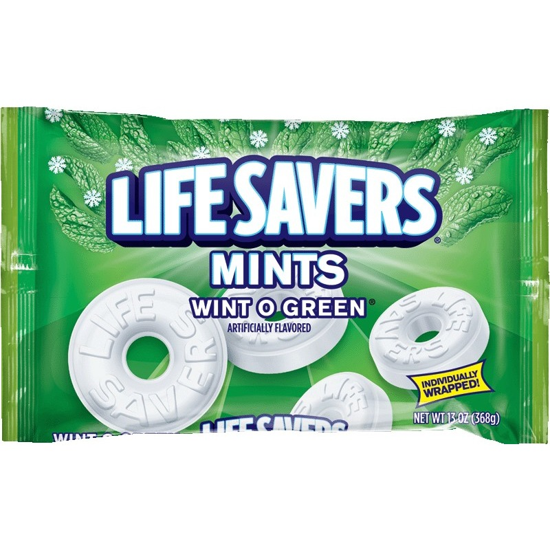 Lifesavers Wint-O-Green Mints Hard Candy Bag, 13 ounce