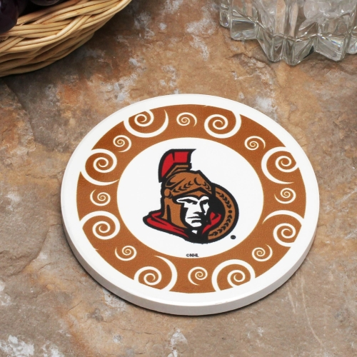 Ottawa Senators Single Swirl Coaster - No Size