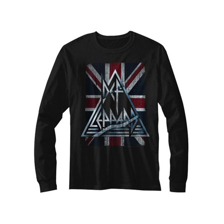 Def Leppard 1980's Heavy Hair Metal Band Jacked Up Adult Long Sleeve T-Shirt