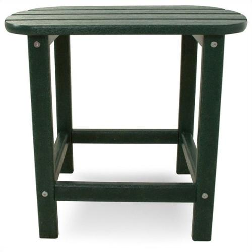 Polywood South Beach 18 inch Side Table in Green