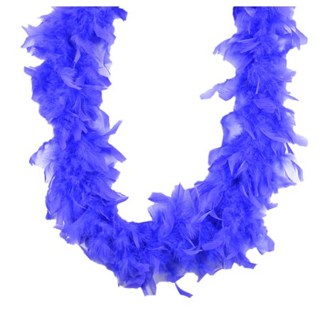 Chandelle Feather Boa Periwinkle 45 gm 72 in 6 Ft - Mardi Gras Feather Boas