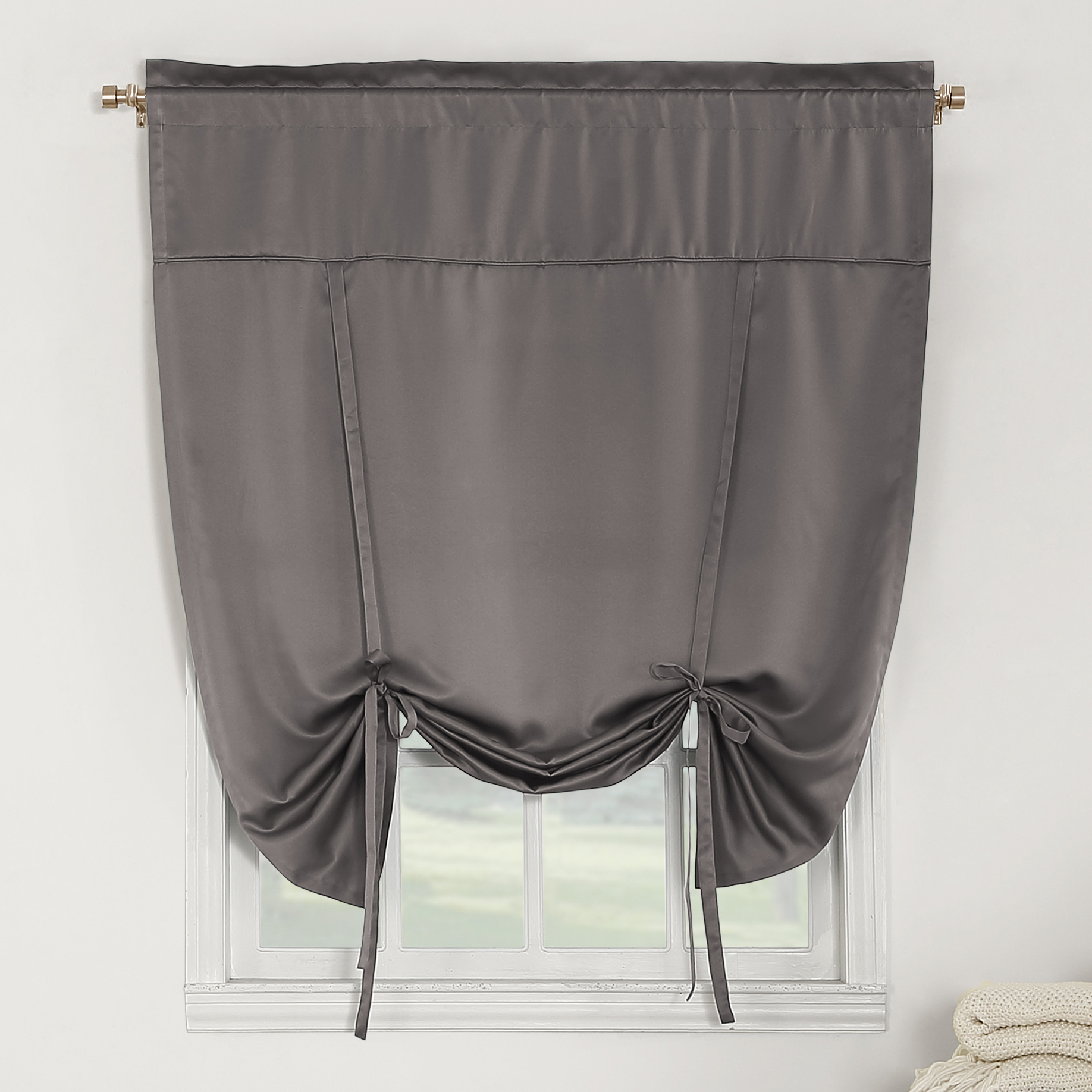 Sun Zero Bartlett Room-Darkening Tie-Up Shade