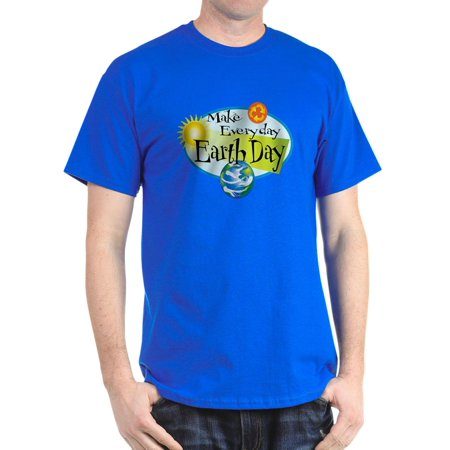 CafePress - Make Everyday Earth Day Dark T Shirt - 100% Cotton T-Shirt