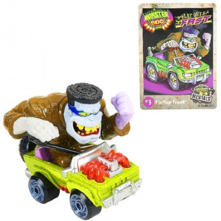 Monster 500 Trading Card & Large Car Figure Flattop Frank, By Toys R Us Ship from US - Toys R Us Lima