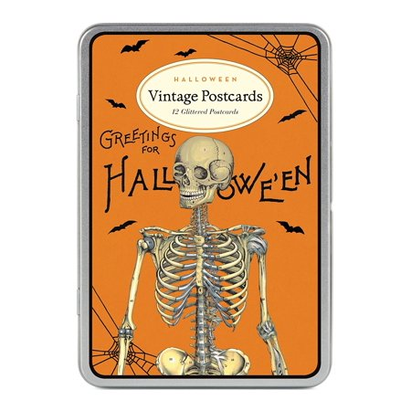 Cavallini Papers & Co Halloween 2 Glitter Vintage Postcards, Ideal for correspondence or decorative purposes By Cavallini Papers - Halloween Postcards Vintage For Sale