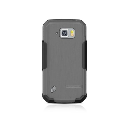 Body Glove Samsung Galaxy S6 Active Satin Gel Case and Holster Gray - 4051E ()