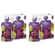 (8 pack) Plum Organics Stage 2 Pear, Purple Carrot & Blueberry, 4oz