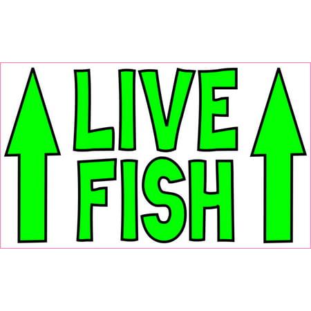 5in x 3in Live Fish Sticker Vinyl Animal Sign Decal Aquarium Stickers