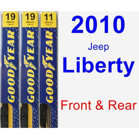 2010 Jeep Liberty Wiper Blade Set/Kit (Front & Rear) (3 Blades) -