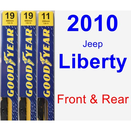 - 2010 Jeep Liberty Wiper Blade Set/Kit (Front & Rear) (3 Blades) - Premium
