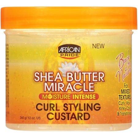 African Pride Shea Butter Miracle Moisture Intense Curl Styling Custard 12 oz. Jar