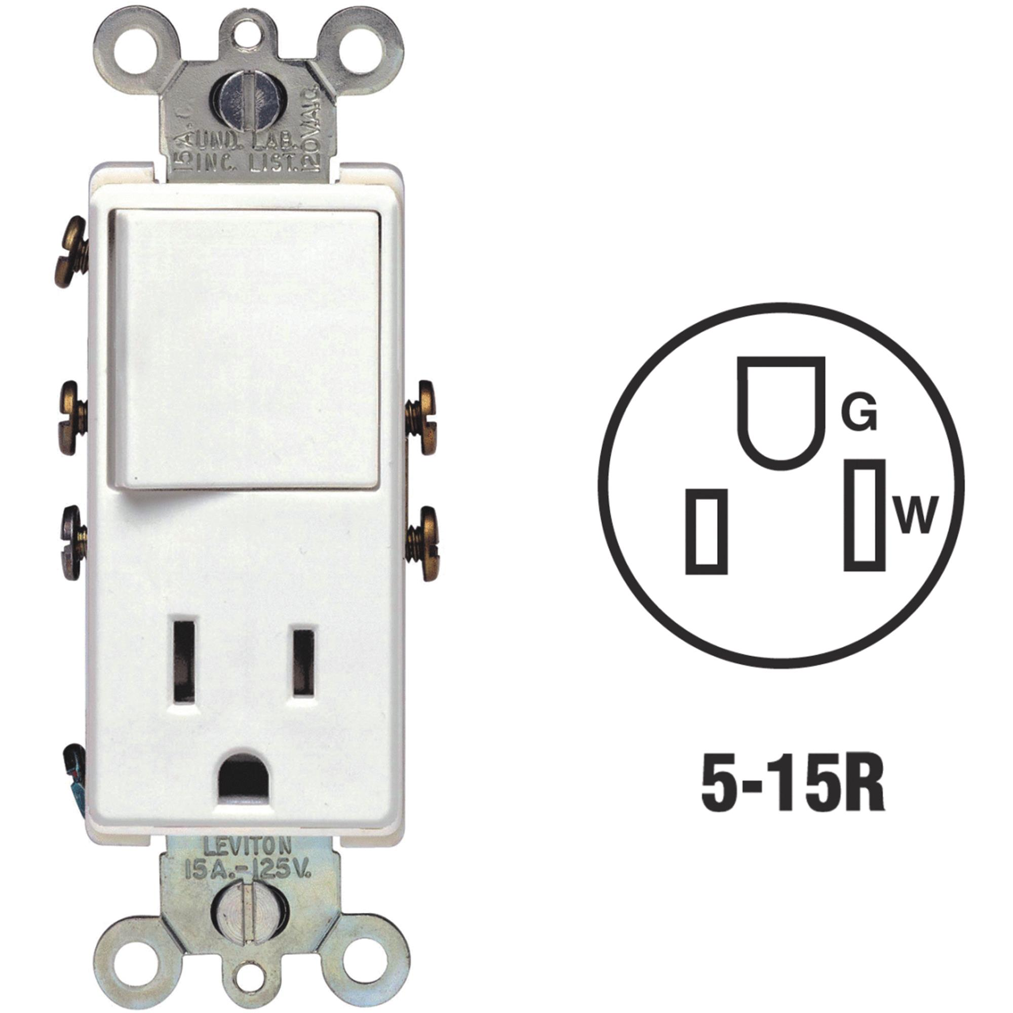 Switch And Outlet Combination
