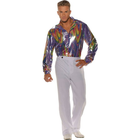 Disco Shirt Men's Adult Halloween Costume - Disco Shoes For Men