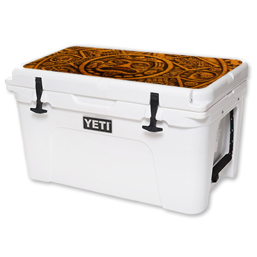 MightySkins Protective Vinyl Skin Decal for YETI Tundra 45 qt Cooler Lid wrap cover sticker skins Carved Aztec