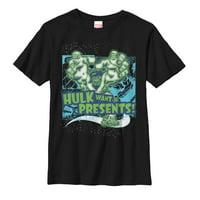 marvel boys' christmas hulk wants presents t-shirt