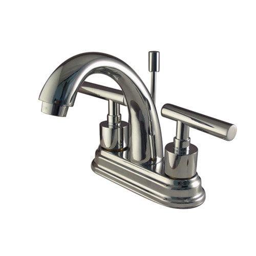Elements of Design Sydney Centerset Bathroom Faucet with Brass Pop-Up Less Handles