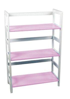 Lipper International 512PK Child's Bookcase, Pink and White by Lipper International