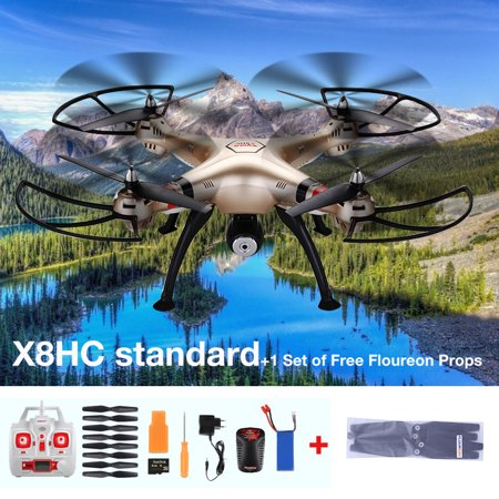 Syma X8HC-1 Barometer Altitude Hold 2.4G 4CH 6-Axis Gyro RC Quadcopter Drone With 2.0MP HD Camera
