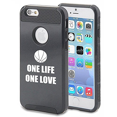 Apple iPhone 5 5s Shockproof Impact Hard Case Cover One Life One Love Basketball (Black),MIP