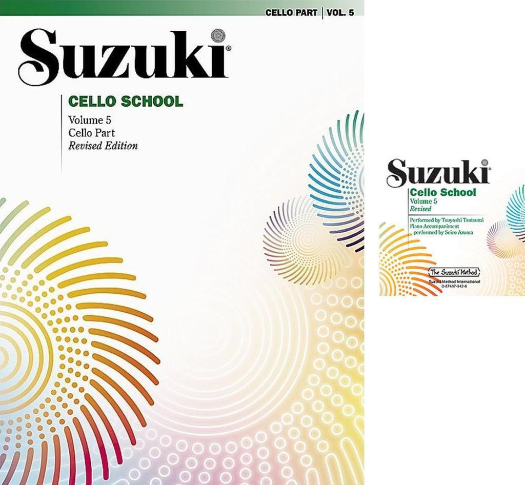 Suzuki Cello School Cello Part & CD Volume 5 ,SUZ CELLO PT5CD by Alfred Publishing