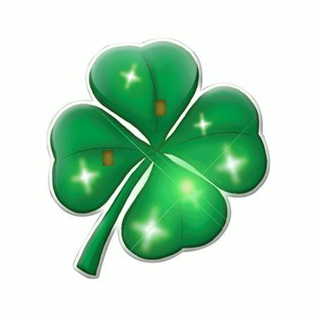 4 Leaf Clover Pin (Four Leaf Clover Flashing Body Light Lapel Pins)