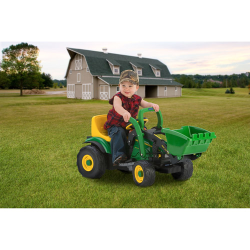 Peg Perego John Deere Mini Power Loader 6-Volt Battery-Powered Ride-On