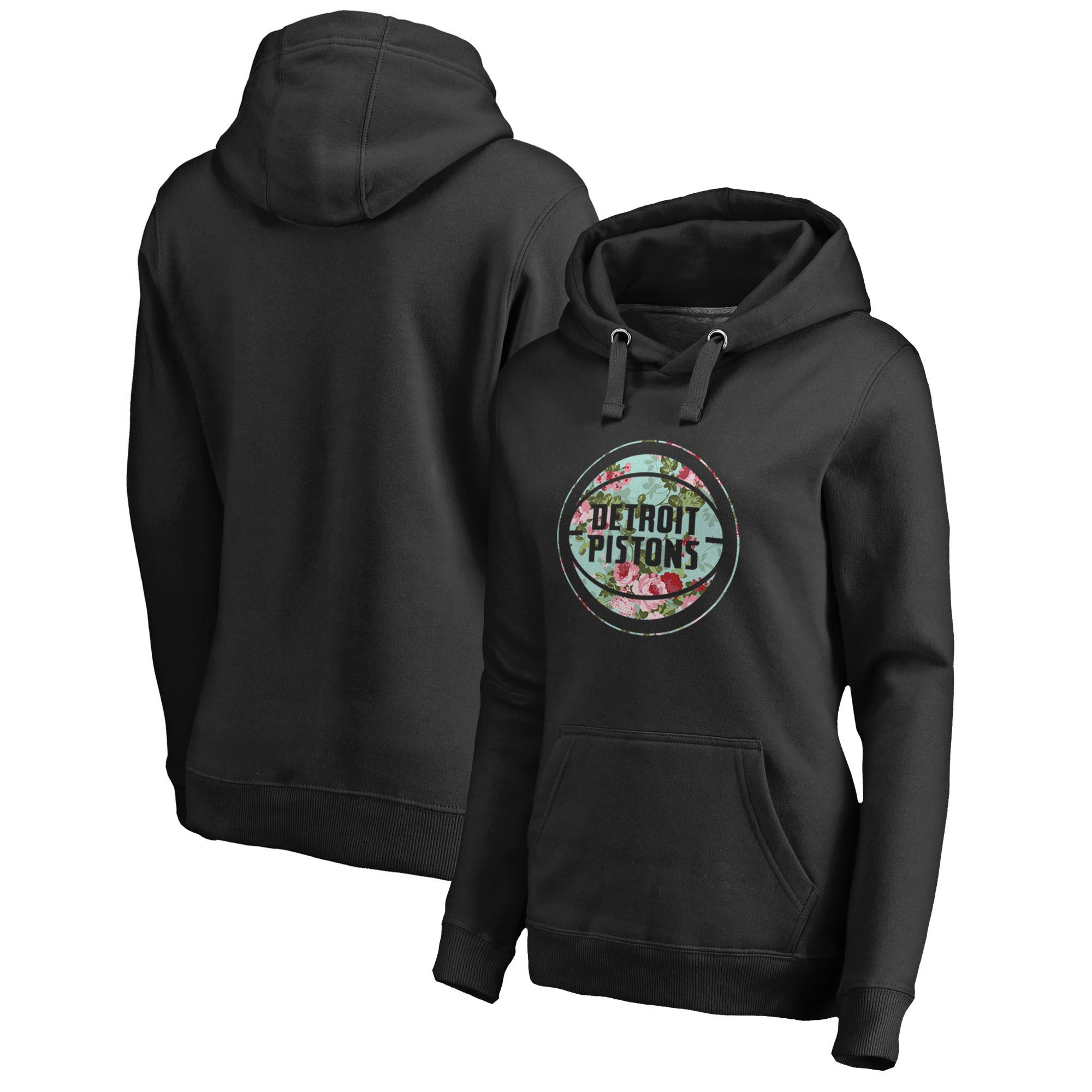 Detroit Pistons Fanatics Branded Women's Lovely Pullover Hoodie - Black