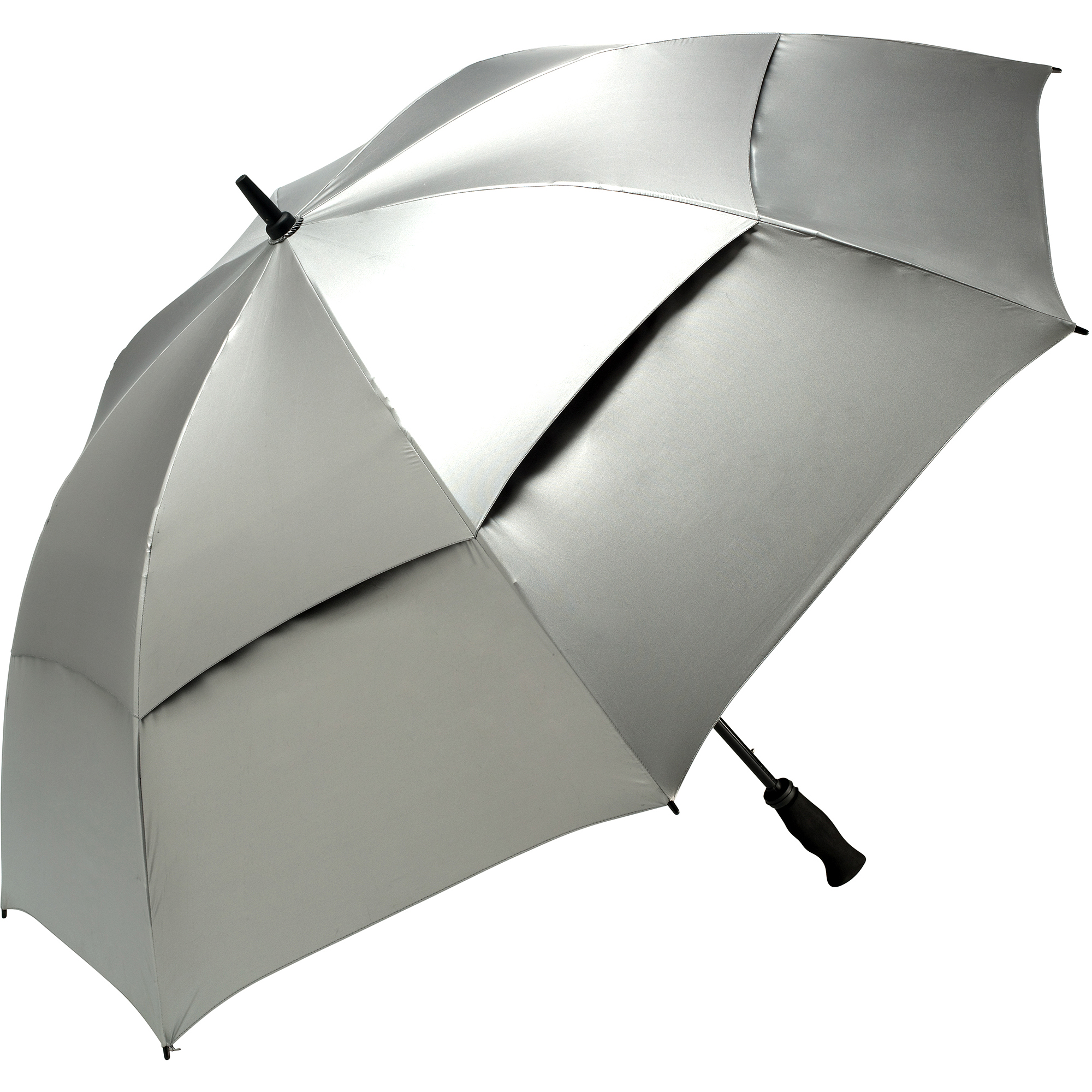 ShedRays UPF50 Vented Golf Umbrella, Silver