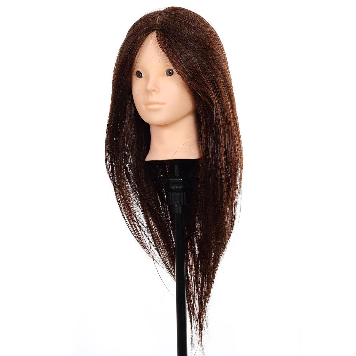 CoastaCloud 80 % Real Human Hair Long Hair Hairdressing T...