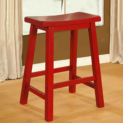 Saddle Seat Counter Stool Red Walmart Com